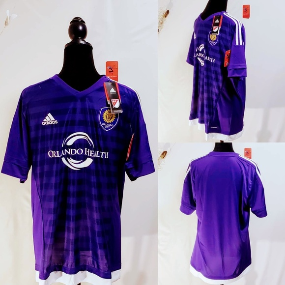 adidas Other - Adidas MLS Orlando City Soccer Jersey size L🆕🦅